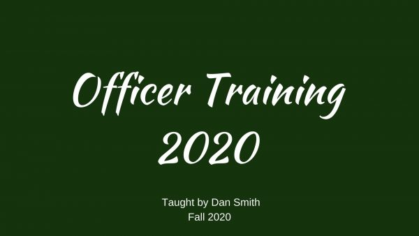 Officer Training 2020