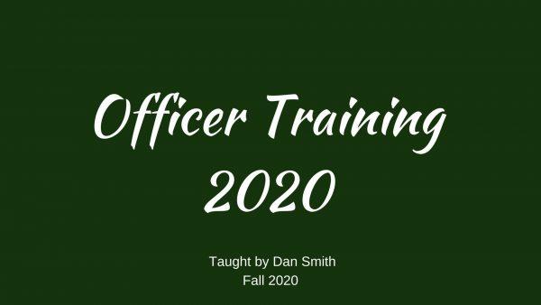 Officer Training 2020